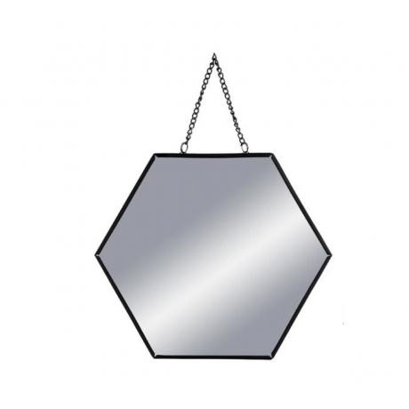 Peegel 'Hexa' must 20x20cm