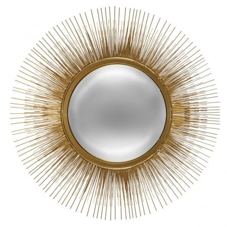 Peegel 'Sun' kuldne D58cm