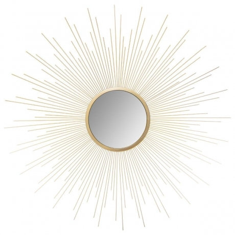 Peegel 'Sun' kuldne D70cm