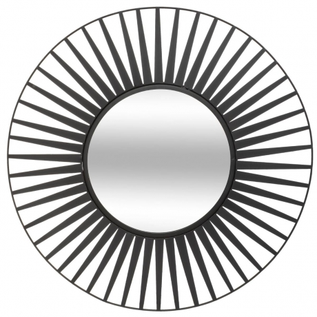 Peegel 'Sun' must D50cm