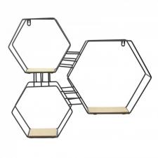 Metallist riiul 'Hexa' 48x10x55cm