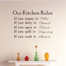 Seinakleebis 'Kitchen'