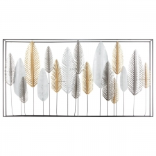 Suur metallist seinadekoratsioon 'Feather'