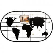 Metallist võrk / pildihoidja 'World' must