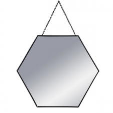 Peegel 'Hexa' must 29x29cm