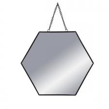 Peegel 'Hexa' must 24x24cm