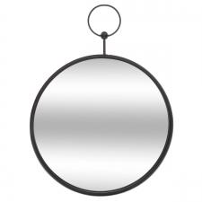 Metallist peegel 'Gusset' must d30cm