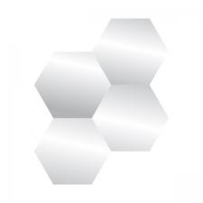 Peeglite komplekt 'Hex' 20x20cm 4tk