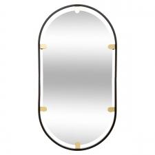 Peegel 'Oval' must 75x40cm