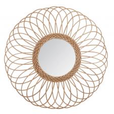 Peegel rotangist 'Rosette' d58 beež
