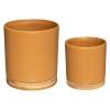 Lillepottide komplekt 'Bamboo' 2tk kollane