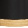 Lillepottide komplekt 'Bamboo' 2tk must