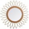Peegel rotangist 'Rattan' d50 beež